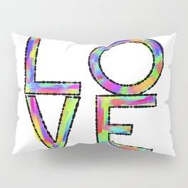 Pop Art Multicolored Love Pillow Sham