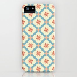 Jordan Geometric Pattern - Star Blue Peach iPhone Case