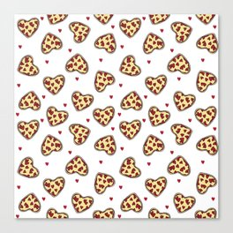 Pizza hearts cute love gifts foodie valentines day slices Canvas Print