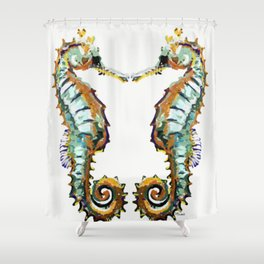 Seahorses - colorful sea love Shower Curtain