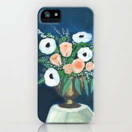 blush and white bouquet iPhone Case