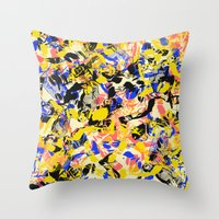 fight Throw Pillows featuring Fight by Larionov Aleksey