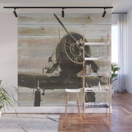 Old airplane 2 Wall Mural