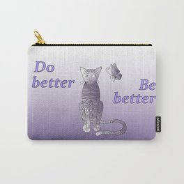 zen cat and butterfly Carry-All Pouch