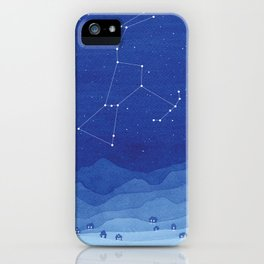 Orion Constellation, mountains iPhone Case