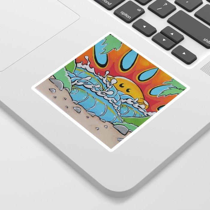 Sunny Peak Print Sticker