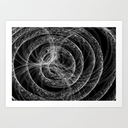Complex Mable Pattern Art Print