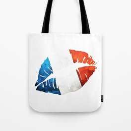 French Flag Lips Tote Bag