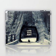 Life WITH art & Life without Laptop & iPad Skin