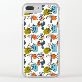 Pattern in Nordic Floral Style #8 Clear iPhone Case