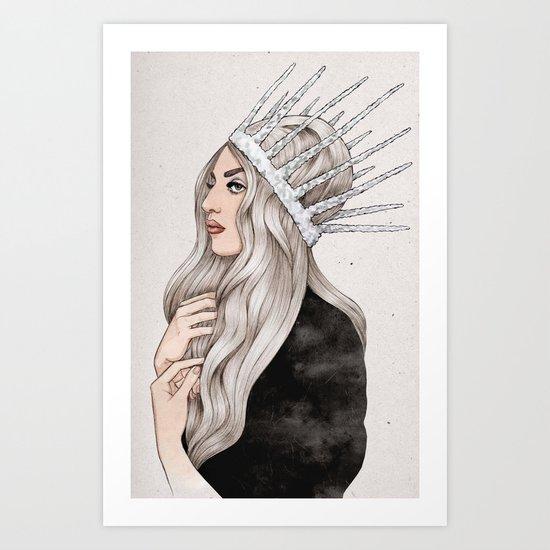 Silver Blonde Art Print