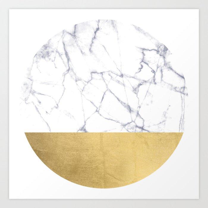 Golden Circle Art Abstract