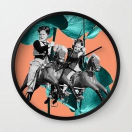 Carousel - Teal Wall Clock