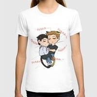destiel T-shirts featuring Feline!Destiel by Tsuki-Nekota