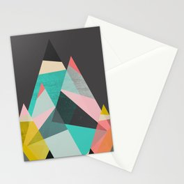 Geo Mountains Stationery Cards