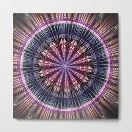 Star shine, tribal pattern mandala Metal Print