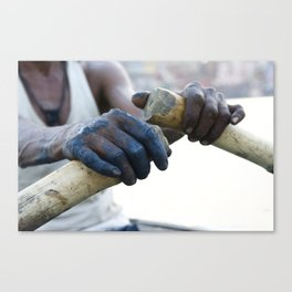 Hands of Painter, Varanasi, India Canvas Print
