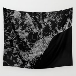 Barcelona map Wall Tapestry