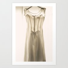 Wedding Dress Art Print