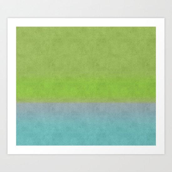 Green greenery greenish Art Print