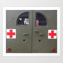 red cross Art Print