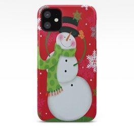 Happy Snowman iPhone Case