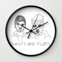 cactei Wall Clocks featuring Josh/Tyler by ☿ cactei ☿