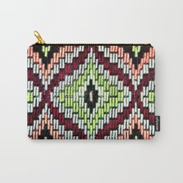 Bargello hourglass -  does anyone really know what time it is? Carry-All Pouch