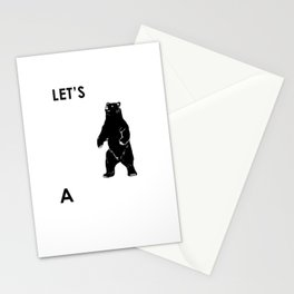 Let's Make A Panda Shirt Funny Polar Bear Black Bear Shirt Stationery Cards