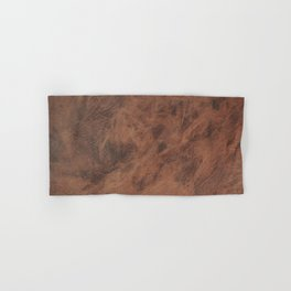 Old Tan Leather Print Texture | Cowhide Hand & Bath Towel