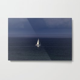 Yacht In A Storm Metal Print