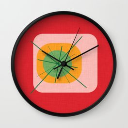 Flower Eggs Red Wall Clock