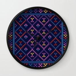 Bohemian Kilim Ethnic Pattern 1 Wall Clock