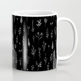 Black wildflowers Coffee Mug