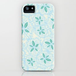 Sea Blue Lily Flower iPhone Case