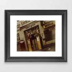 Gas Station of old Framed Art Print