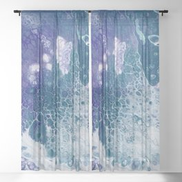 Purple and Teal Whisper Sheer Curtain