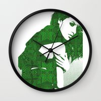 henna Wall Clocks featuring Aztec Henna by fashionistheonlycure
