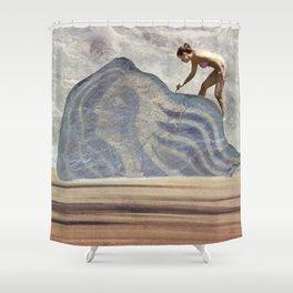 Rebuilding Avatar on the Beach Shower Curtain