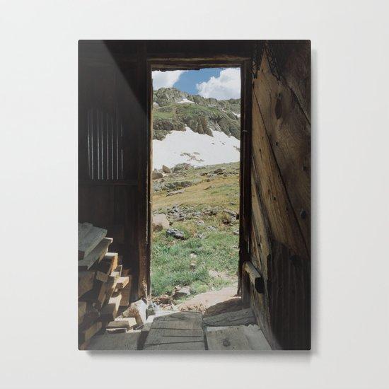 Colorado Mountain Cabin Metal Print
