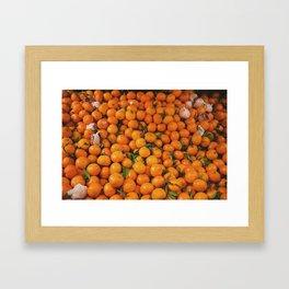 clémentine feuille Framed Art Print