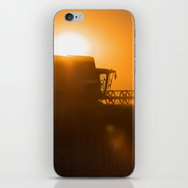 Midsummer time is harvest time of the cereal fields iPhone Skin