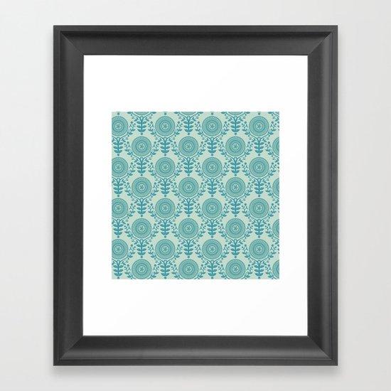 Paper Doily (BLUE) Framed Art Print