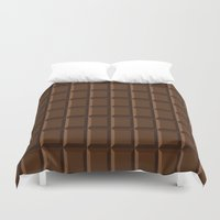 chocolate Duvet Covers featuring Chocolate by lllg