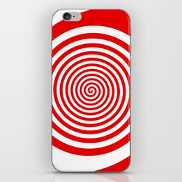 Red and White Spiral iPhone Skin