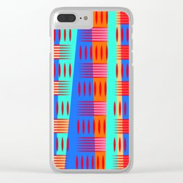 Multi Colored Geometric Forms Clear iPhone Case