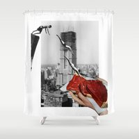 metropolis Shower Curtains featuring Metropolis by Lerson