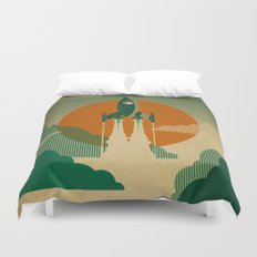 The Voyage (Green) Duvet Cover