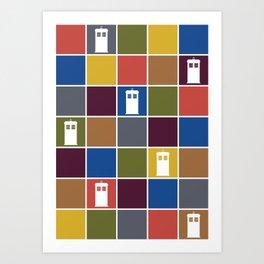 TARDIS Tiles Art Print