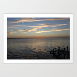 Sunset Over the Sound [2] Art Print
